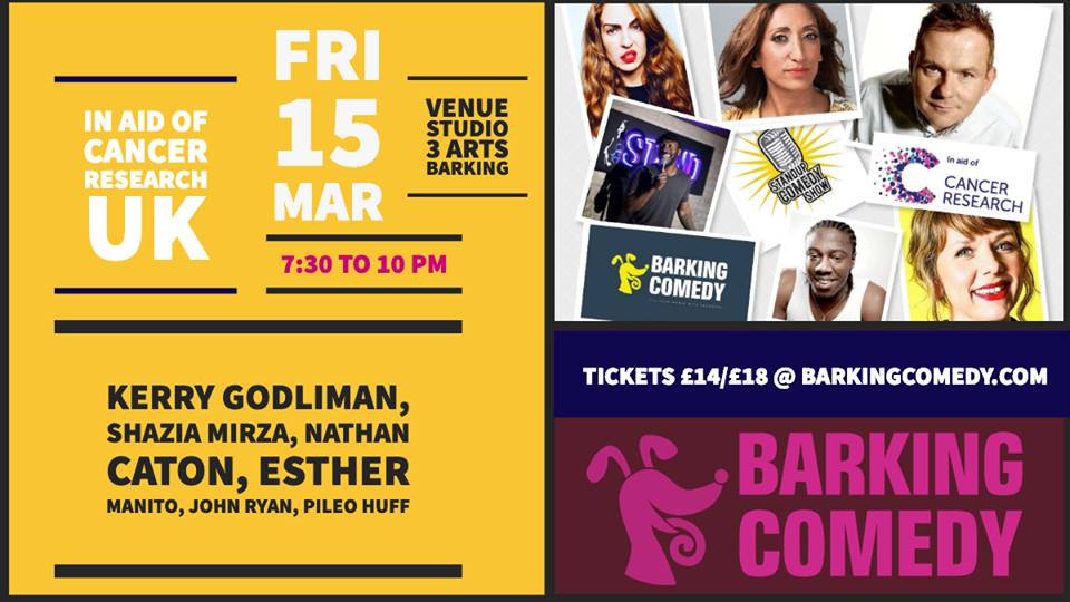 Barking Comedy Charity Night- Cancer Research